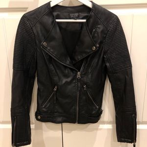 Topshop Leather Jacket - Size 0